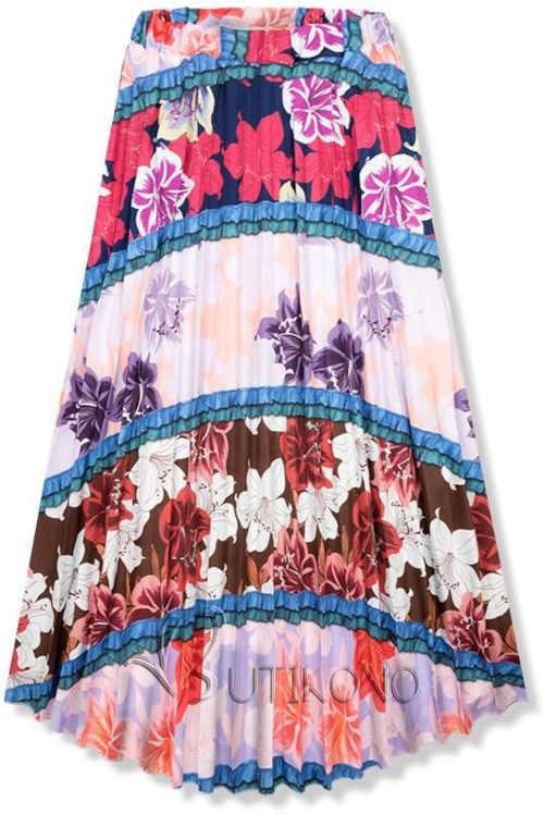 Dámska kvetovaná moderná sukňa v komfortnej maxi dĺžke