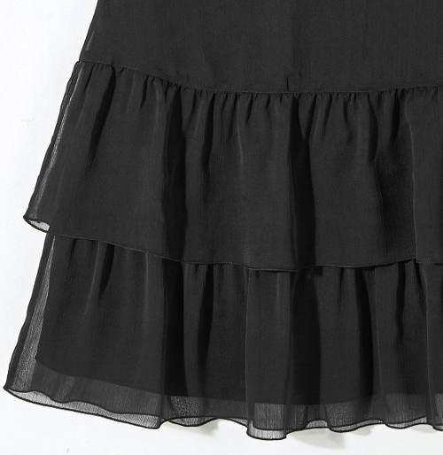 Dámska sukňa s dvoma volánmi