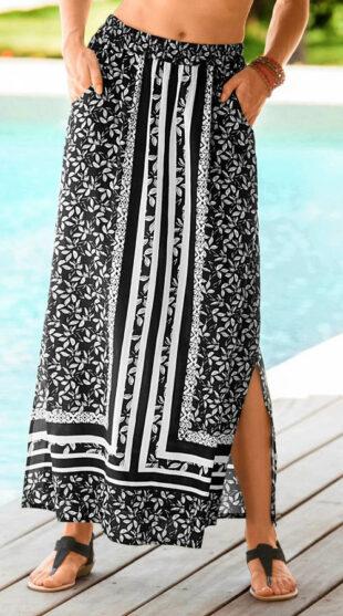 Dlhá plážová sukňa s pružným pásom