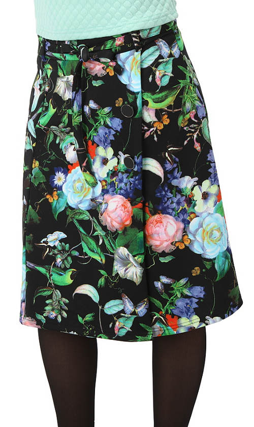Kvetinová sukne k legínam