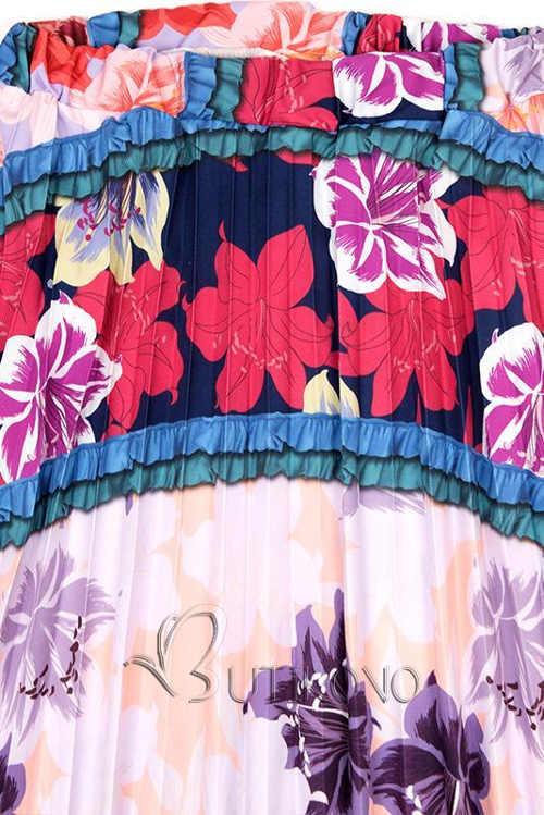 Kvetovaná maxi sukne výpredaj
