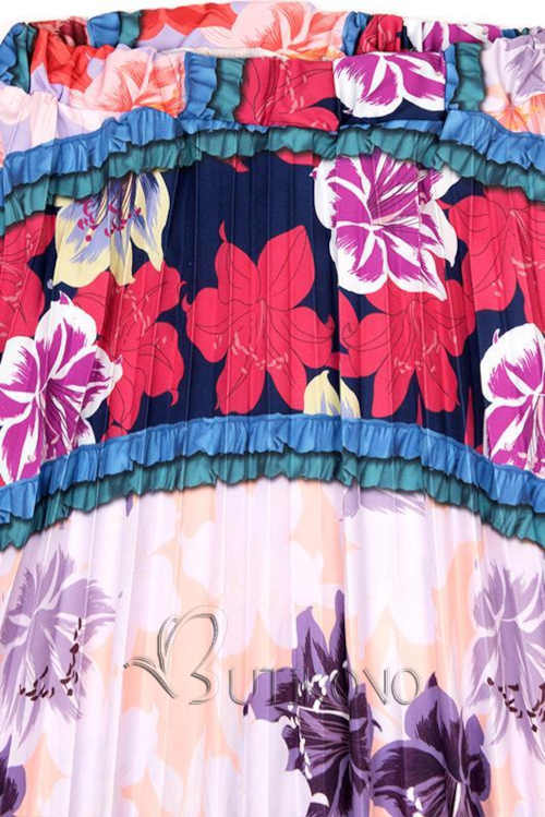 Moderné dlhá sukňa farebná