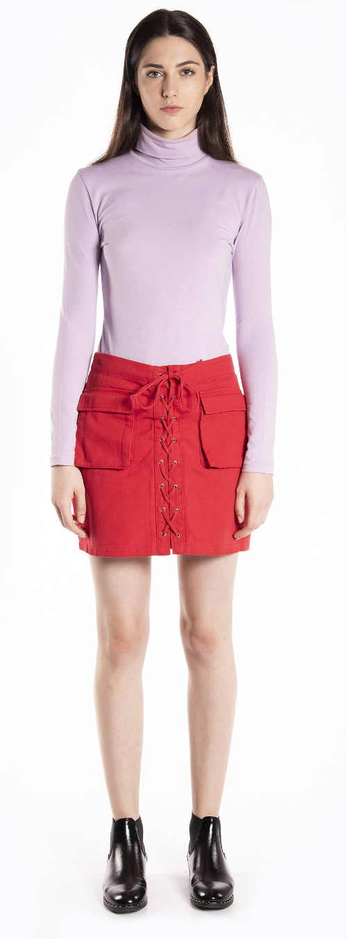 Netradičná dámska džínsová sukňa