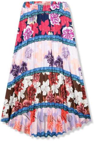 Univerzálna dlhá letná sukňa kvetovaný vzor