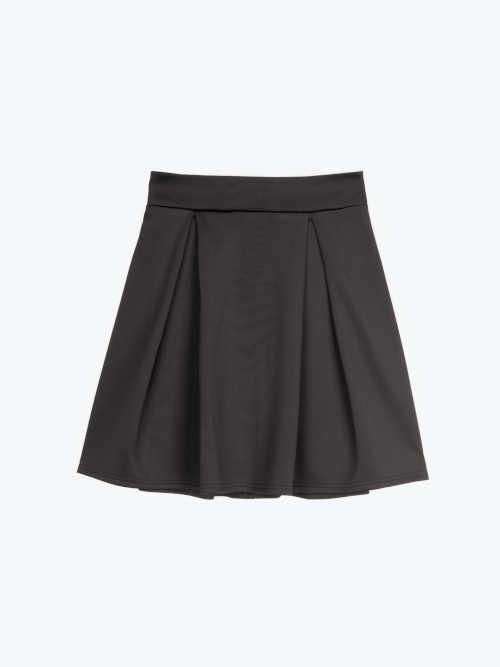 Čierna mini sukňa na zips