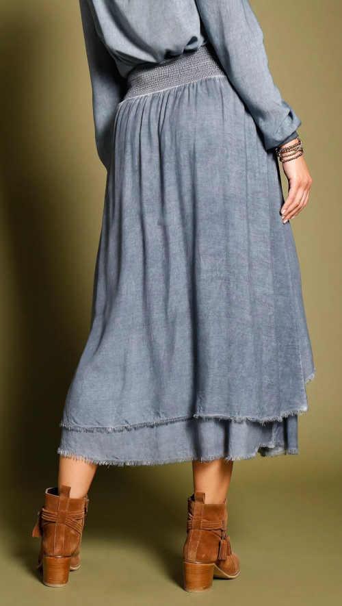 Dámska spraná asymetrická sukňa