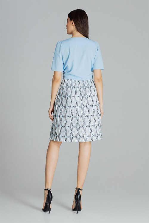 Dámska sukňa plisovaná v dĺžke ku kolenám