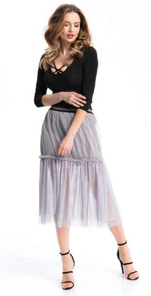 Dlhá dámska sukňa z ľahkého a príjemného materiálu