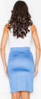 Elegantná modrá dámska sukňa s vysokým pásom