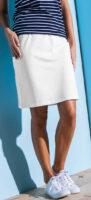 Lacná jednofarebná rovná dámska sukňa
