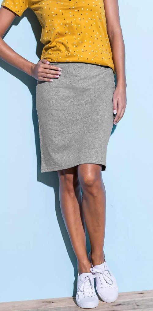 Lacná letná sukne sivý melír