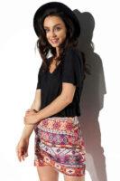 Letná dámska mini sukňa v pestrofarebnom prevedení
