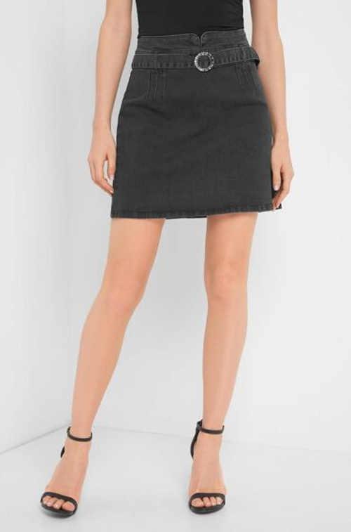Šedá riflová dámska mini sukňa