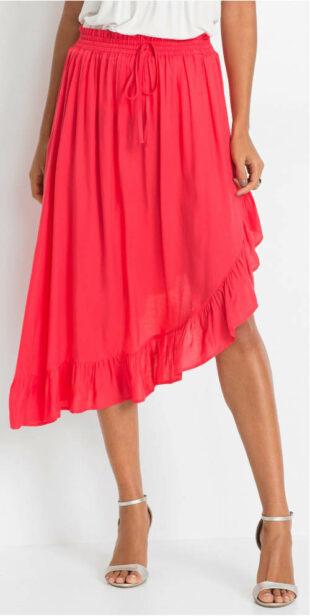 Asymetrická letná sukne