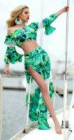 Dlhý dámsky sukňový komplet