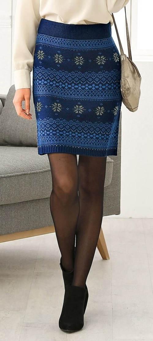Pletená žakárová sukne výpredaj