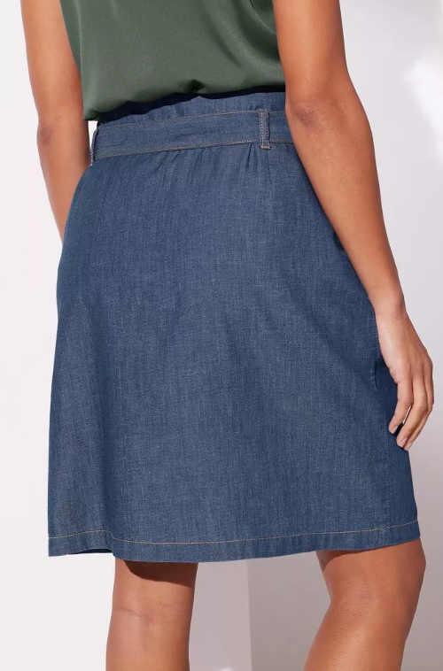 Riflová sukňa zo vzdušného denimu