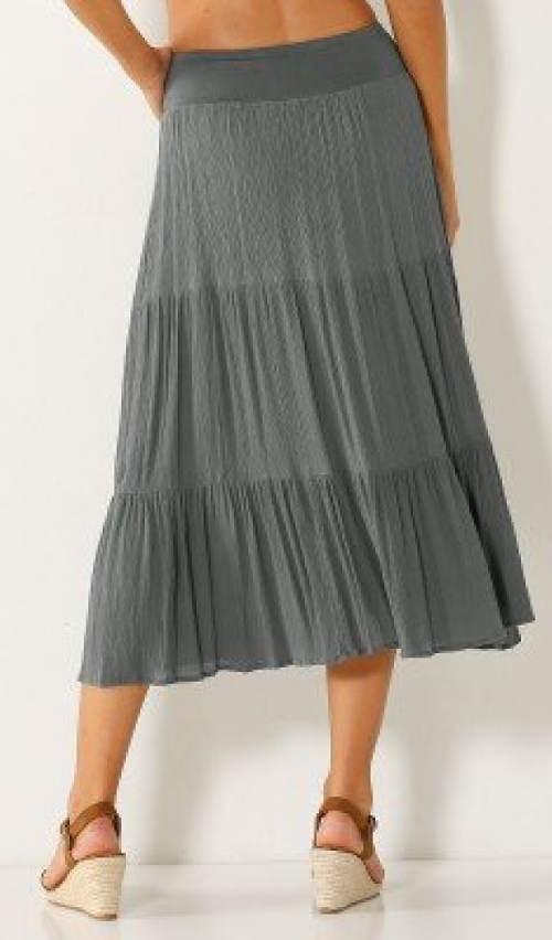 Šedá letná polodlhá sukne