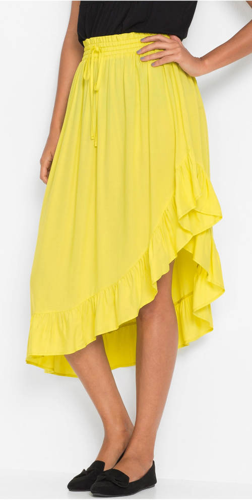 Žltá letná sukne