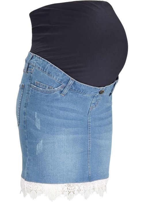 Bonprix tehotenská džínsová sukňa