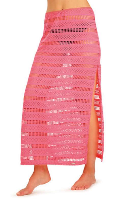Dámska plážová sukňa s dlhými bočnými rozparkami