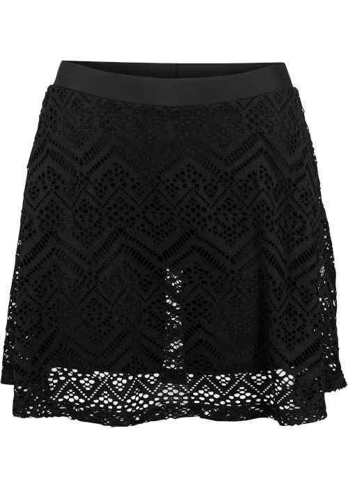Moderná praktická plavková sukňa s elastickou čipkou