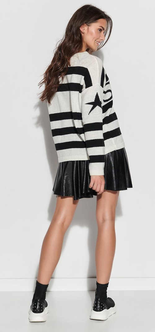Moderná sukňa z gumy