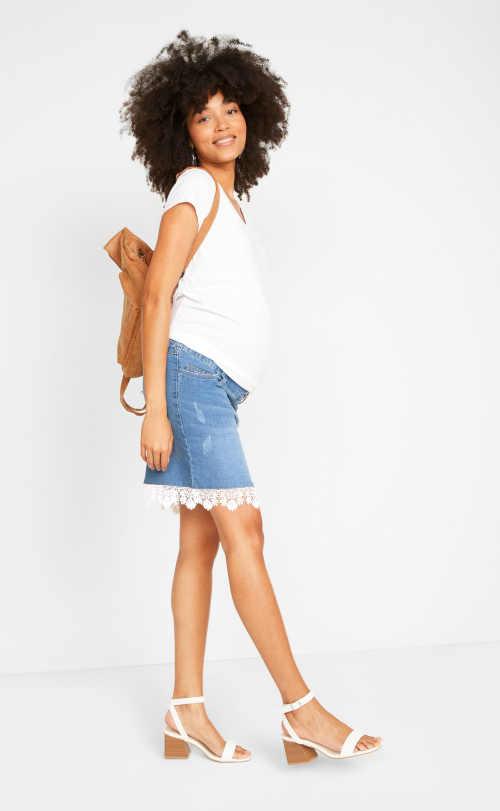 Sukne pre tehotné ženy s elastickým pásom