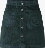 Bavlnená krátka sukňa s vreckami v manšestrovom vzhľade