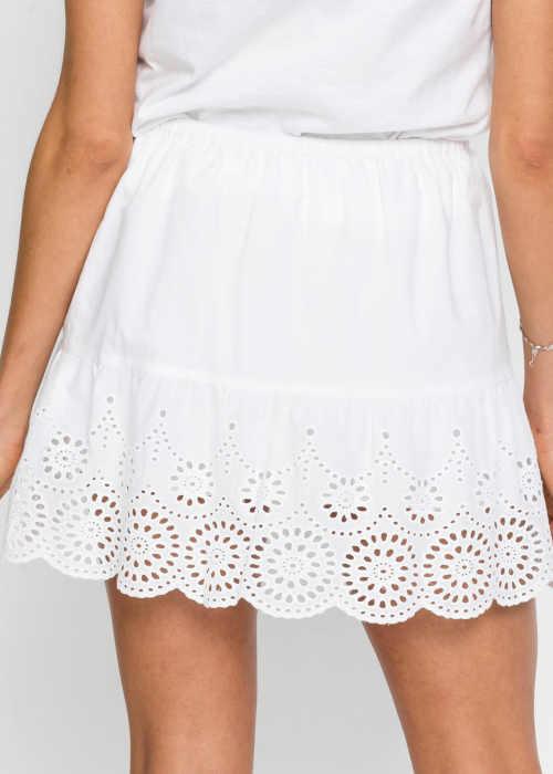 Biela elastická sukňa Bonprix