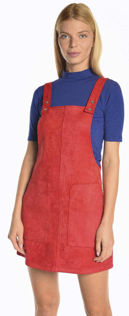 Červená sukňa s laclom