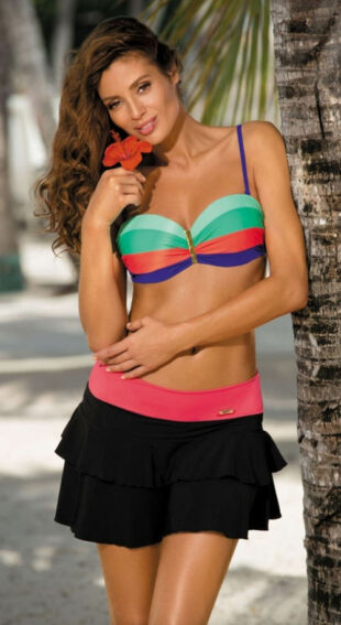 Čierna plážová sukňa s elastickým pásom