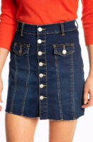 Dámska džínsová minisukňa v plnej dĺžke