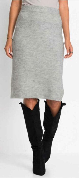 Dámska pletená sukňa s topánkami