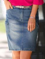 Džínsová sukňa pre plnoštíhle osoby
