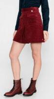 Krátka červená manšestrová sukňa Tommy Hilfiger