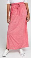 Lacná dlhá ružová maxi sukňa s rozparky