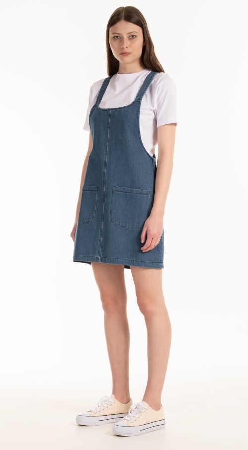 Modrá džínsová sukňa