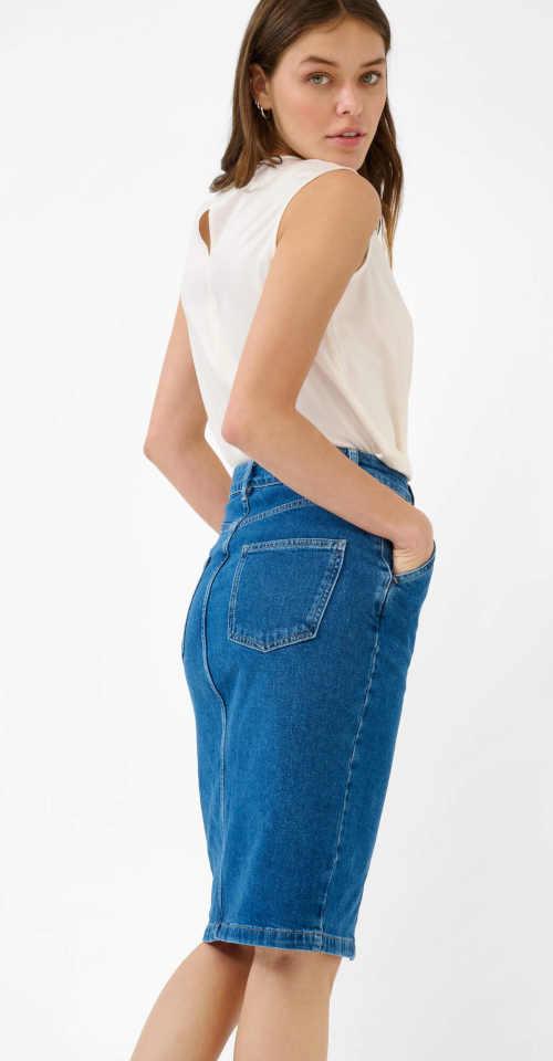 Priliehavá džínsová sukňa
