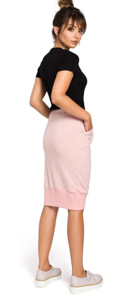 Ružová dámska pohodlná sukňa