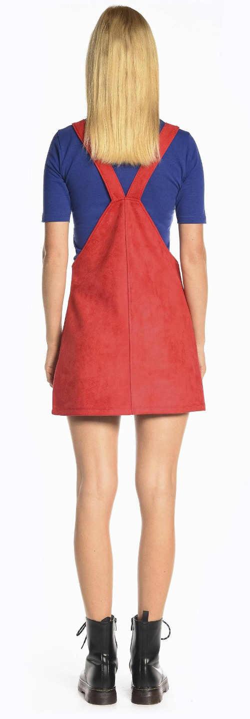Šnurovacia sukňa s pripojenými zadnými šľapkami