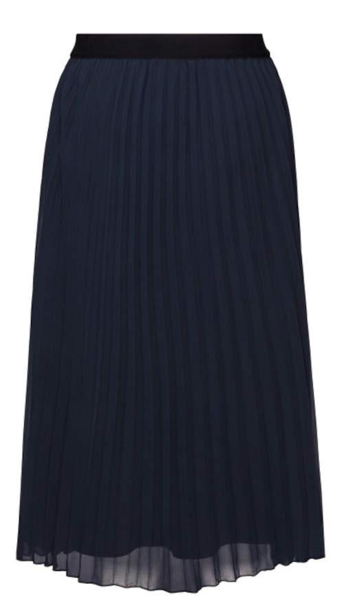 Čierna sukňa s plisovaným záhybom
