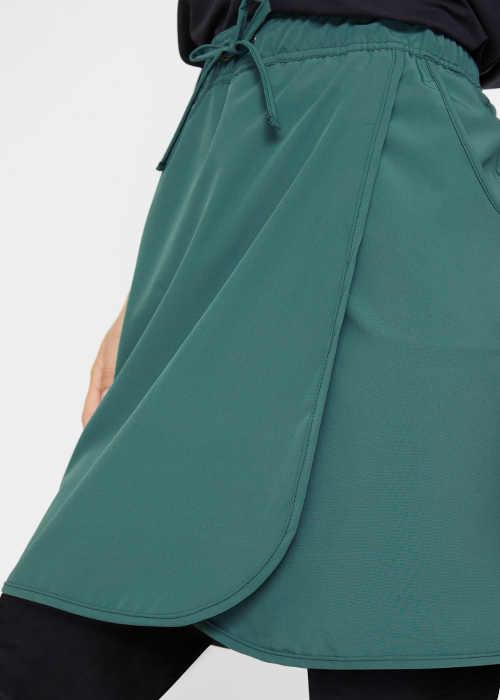 Lacná zavinovacia sukňa so šnúrkou v páse