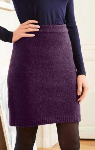 Pohodlná elastická pletená sukňa