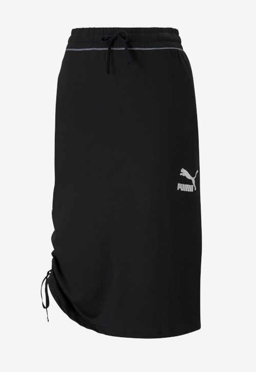 Sukňa Puma v midi dĺžke s elastickým pásom a účinným opaskom