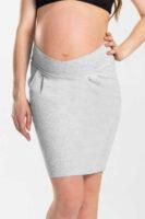 Tehotenská bavlnená sukňa s elastickým pásom prekrížená vpredu