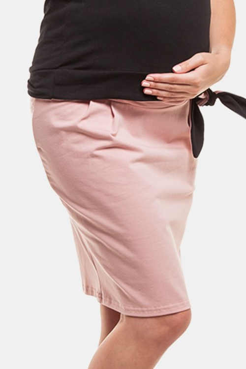 Tehotenská sukňa s vysokým elastickým pásom