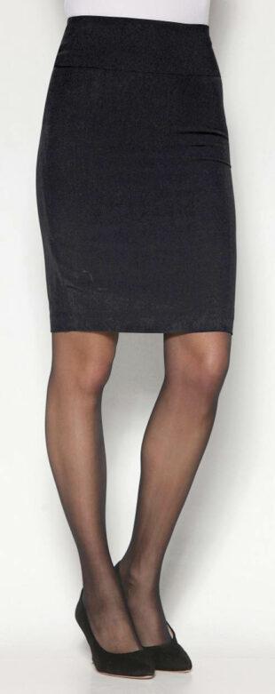 Čierna plášťová sukňa s rozparkom