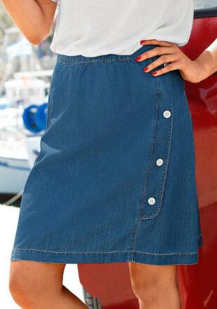 Džínsová sukňa so zábalom